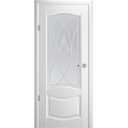 """Лувр 1 Белый (Vinil) мателюкс с алмазной гравировкой """"Галерея"""""""