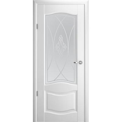 Межкомнатная дверь Лувр 1 Белый (Vinil)