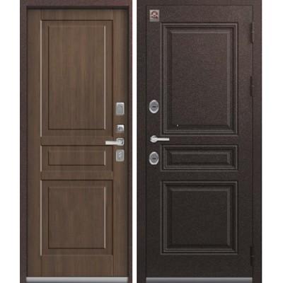Входная дверь Центурион LUX-14 Шоколад букле/Миндаль