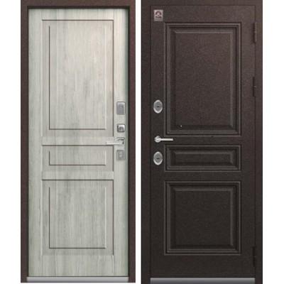 Входная дверь Центурион LUX-14 Шоколад букле/Дуб полярный