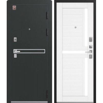 Входная Дверь Центурион LUX-3 Чёрный муар/Сноу