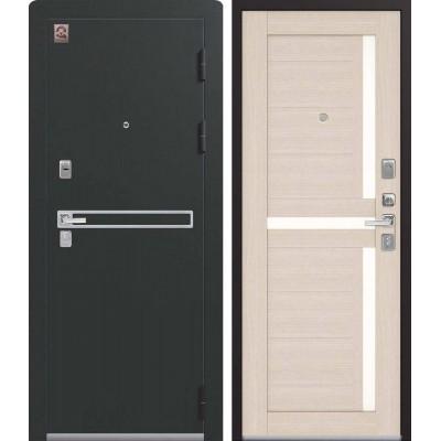 Входная Дверь Центурион LUX-3 Чёрный муар/Лиственница светлая