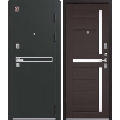 Входная Дверь Центурион LUX-3 Чёрный муар/Лиственница тёмная