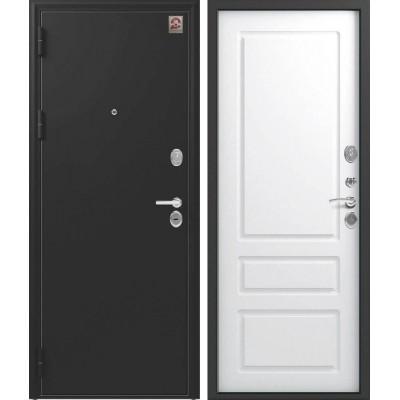Входная Дверь Центурион LUX-6 Чёрный шёлк/софт белый