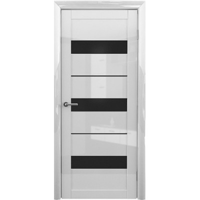 Межкомнатная дверь Прага GL Белый глянец