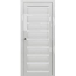 Сидней GL Белый глянец белое стекло
