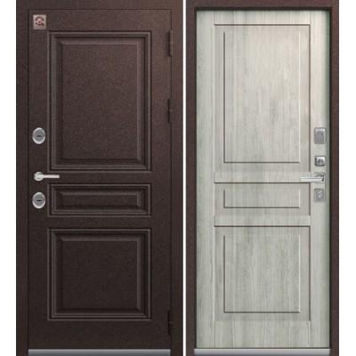 Входная Дверь Центурион Т-8 Шоколад букле/Полярный дуб