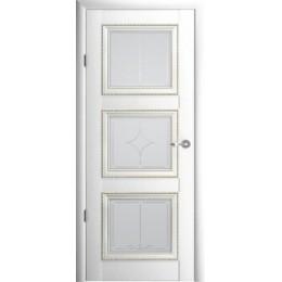 """Версаль 3 Белый (Vinil) мателюкс с алмазной гравировкой """"Галерея"""""""