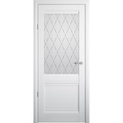 Межкомнатная дверь Рим Vinyl Белый  Остеклённое