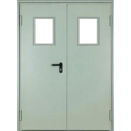 Дверь противопожарная остеклённая ДМПО-02-EI60