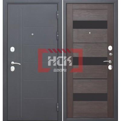 Дверь входная Троя 10 см Серебро Темный кипарис