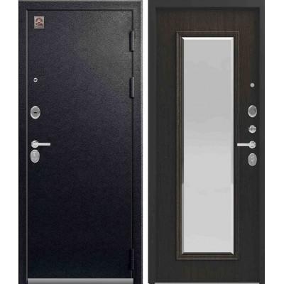 Входная Дверь Центурион LUX-1 зеркало муар орех премиум