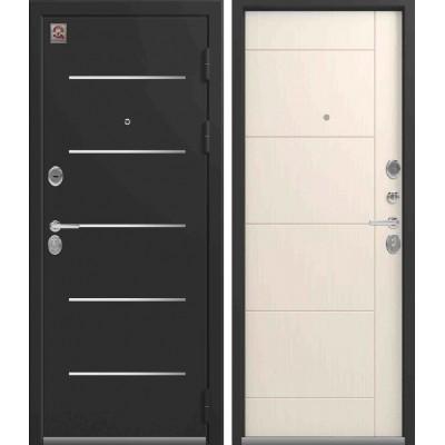 Входная Дверь Центурион LUX-2  Чёрный шёлк/Каньон